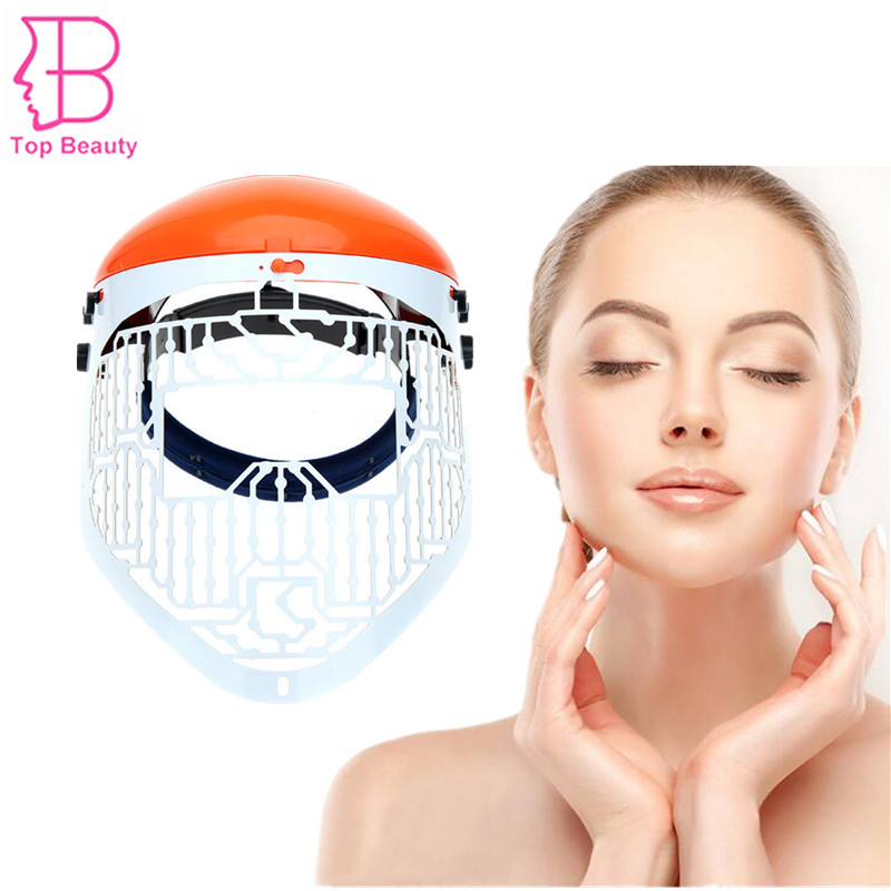 3 Colors JMF LED Light Photon Therapy PDT Mask Anti Acne Wrinkle Removal Skin Rejuvenation Facial Skin Care Beauty Machine ckeyin ultrasound facial skin care led light photon rejuvenation cleaner therapy device beauty massage acne wrinkles machine