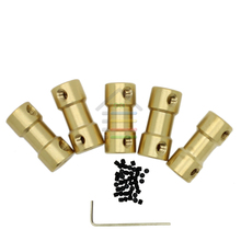 10PC 2 3 3.17 4 5 to 3.17 mm Brass Shaft Motor Flexible Coupling Coupler Length 20mm 5 Size Hobby DIY Hand Drill Tool