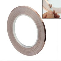 1 Roll Single Conductive Copper Foil Tape Strip Adhesive 5MM X 30M Masking High Temperature Tape Tape