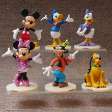 Mickey Minnie Mouse Daisy Goofy Pluto Cake Topper Dacoration Dolls Boys Kids Happy Birthday Event Party Supplies Gift Toy 1pcs 20cm original mickey racer toys mickey and roadster racers mickey minnie donald daisy goofy plush soft dolls