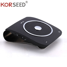 KORSEED Bluetooth гарнитура для авто козырек от солнца громкой связи динамик поддержка голосового набора Беспроводной Телефон плеера 1000mA полимер батарея