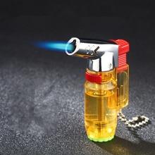 Kompaktowy spawania łukowego latarka lżejsze Jet butan Turbo zapalniczka do cygar 1300 C zapalniczka wiatroodporna rury przetrwania na zewnątrz zapalniczki bez gazu