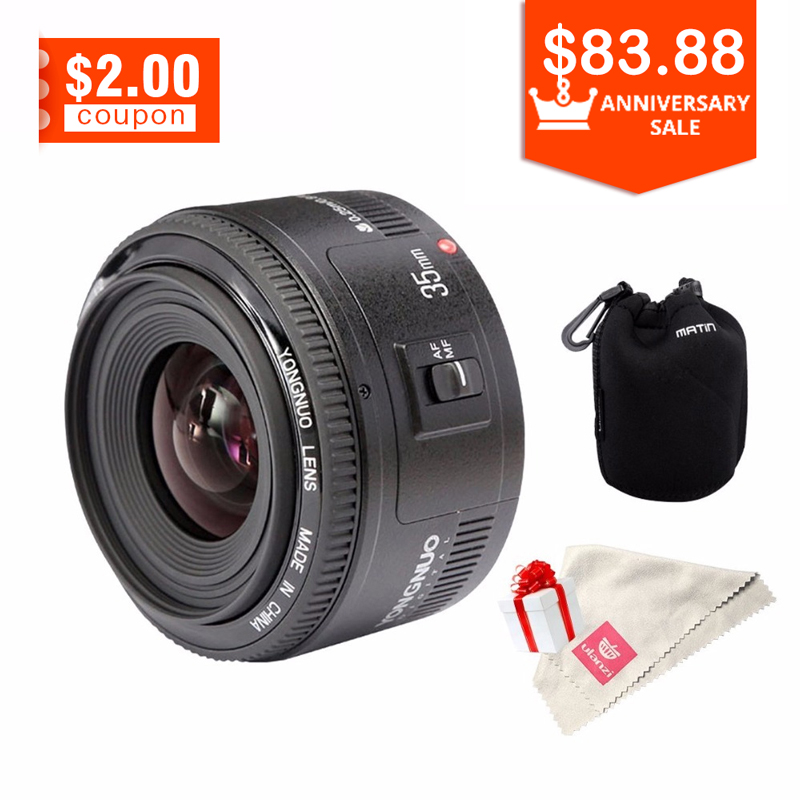 YONGNUO YN35mm Camera Lens For Canon F2 Lens 1:2 AF / MF Auto Focus For Canon 600D 60 D 6D 70D 1300D