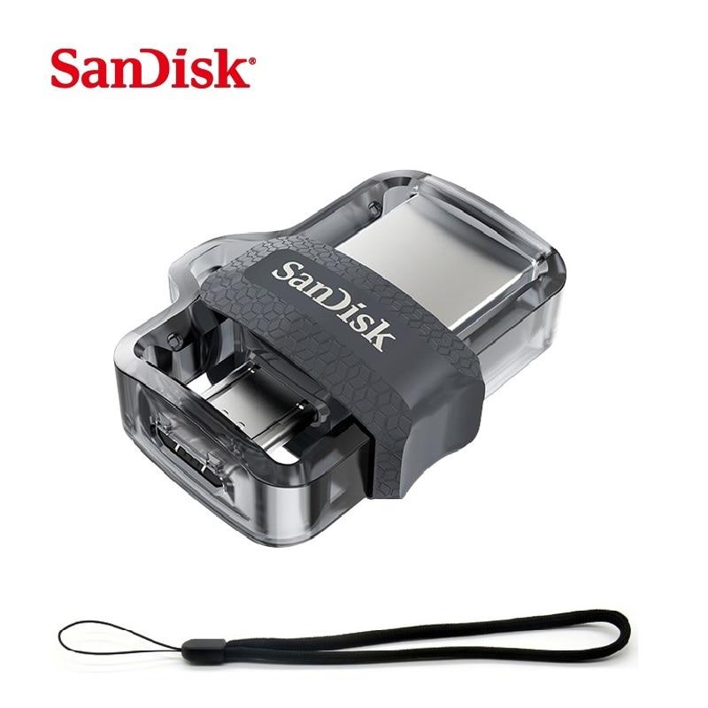 SanDisk USB Flash Drive 16GB 32GB 64GB 128GB OTG USB Pendrive 3.0 Dual Mini Pen Drives memoria usb flash stick cle usb bellek sandisk cz430 usb 3 1 usb flash drive 64gb mini pen drive 128gb pendrive 32gb memory usb stick 256gb storage device u disk 16gb