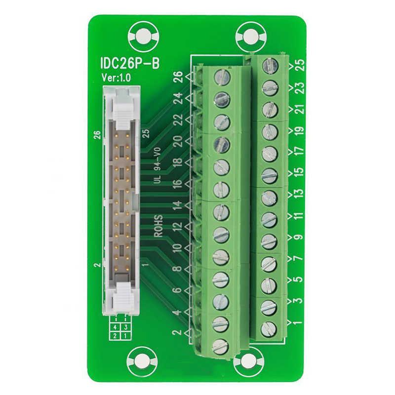 Conector de terminales de repuesto montaje ccessories Set DIN Rail 5mm bloque de placa de montaje 1A 26Pin duradero