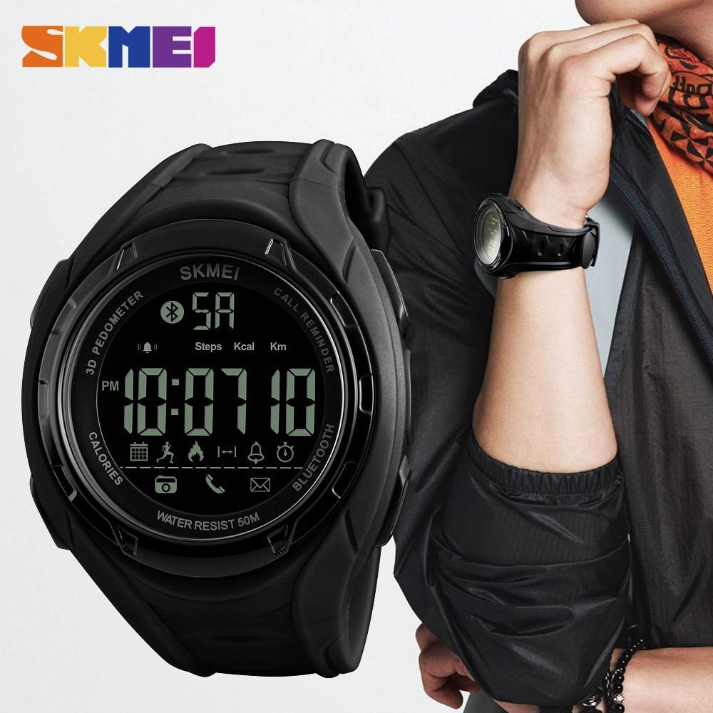 SKMEI Bluetooth Smart Watch Skridttæller Kalorier Udendørs - Mænds ure - Foto 3