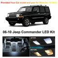 Envío Gratis 6 Unids/lote Paquete Premium Kit Xenon Blanco LED Luces Interiores Para Jeep Commander 2006-2010