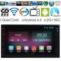 7 HD Для Android 4.4 2 Din Universal Quad Core Авто DVD 2 Г БАРАНА Стерео Полный Сенсорная Панель GPS Навигации Автомобиля Радио Плеер