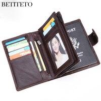 Betiteto Genuine Leather Men Wallet Male Passport Holder Carteras Coin Purse Kashelek Portomonee GG Partmone Fashion Money Bag