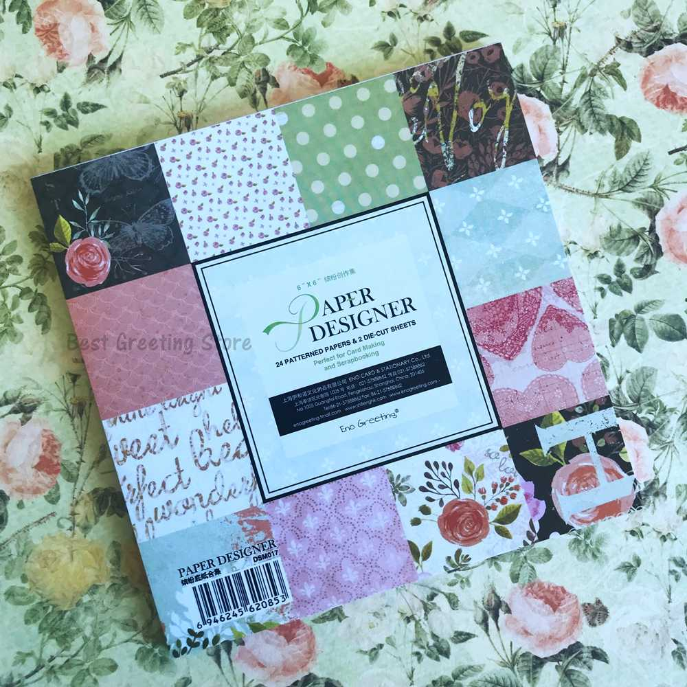 ENO Greeting Love scrapbook paper pack 6 inch vintage floral scrapbooking  page kit background craft papers|paper pack|paper craft kitpaper background  - AliExpress