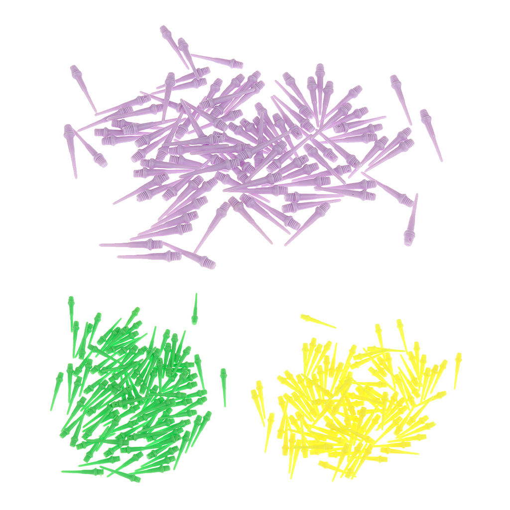 100 Pieces 27mm Soft Tip Replacement Points For Soft Tip Darts Electronic Dart Accessories 3 Colors Available