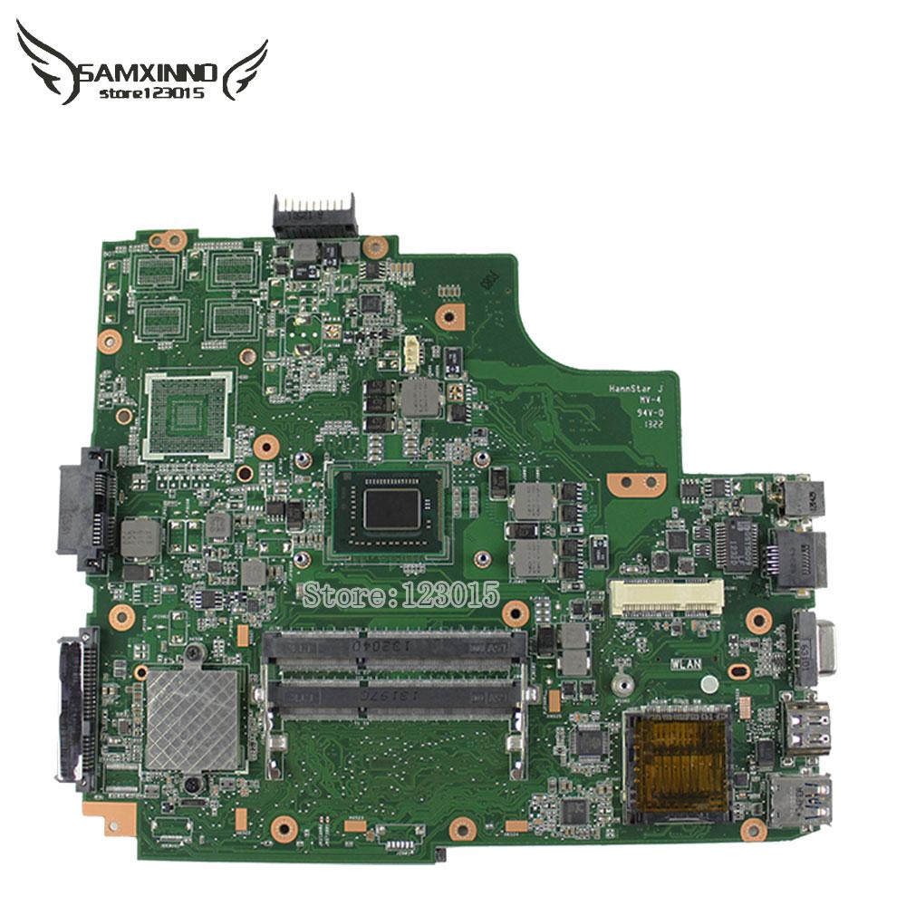 Prix pour En Stock! d'origine pour asus k43e portable k43e k43sd rev2.2 carte mère intégré les cartes graphiques 100% testé