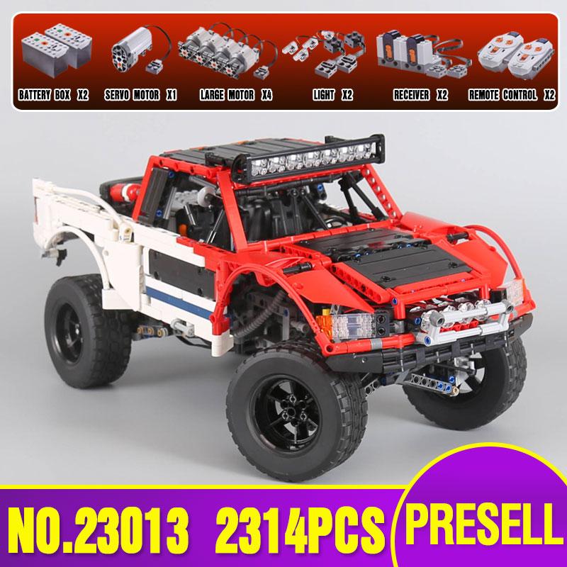 Lepin 23013 Genuine 2314Pcs Technic Series The Remote-Control Off-road Car Set Building Blocks Bricks Toys As children Gifts lepin 20054 4237pcs the moc technic series the remote control t1 classic volkswagen camper set 10220 building blocks bricks toys