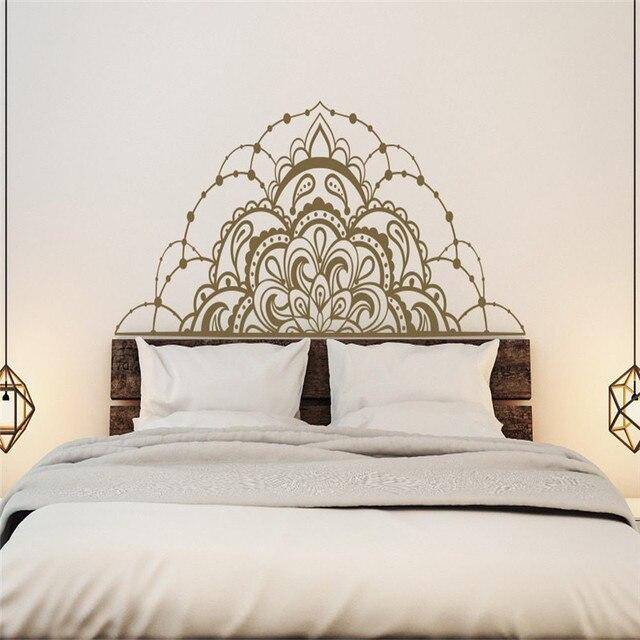 Half Pattern Of Mandala Flower Special Designed Wall Mural Home Bedroom Unique Art Decorative Vinyl