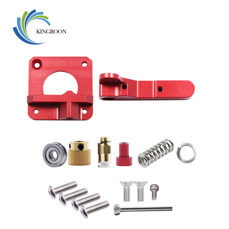 KINGROON Upgrade MK8 Extruder Aluminum Alloy Block Bowden Extruder 3D Printer Parts 1.75mm Filament Reprap For CR-7 CR-8 CR-10 2