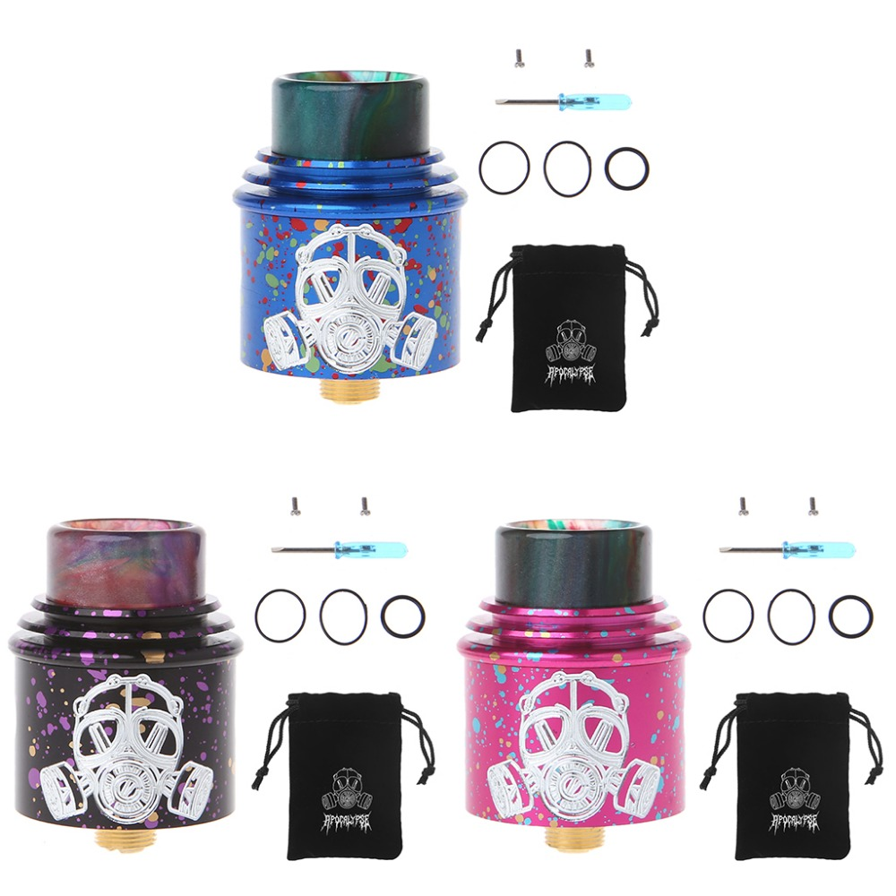 For Apocalypse GEN 2 RDA Atomizer With Wide Bore Drip Tip 24mm rebuildable Vaporizer Tank Fit 510 E Cigarette