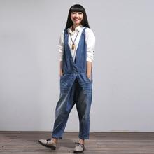 Novio Vintage Pantalones Mujer Pantalones Vaqueros Broeken Femme Dames Harajuku Tirantes Baggy Loose Cargo Harem Pantalones de Las Mujeres