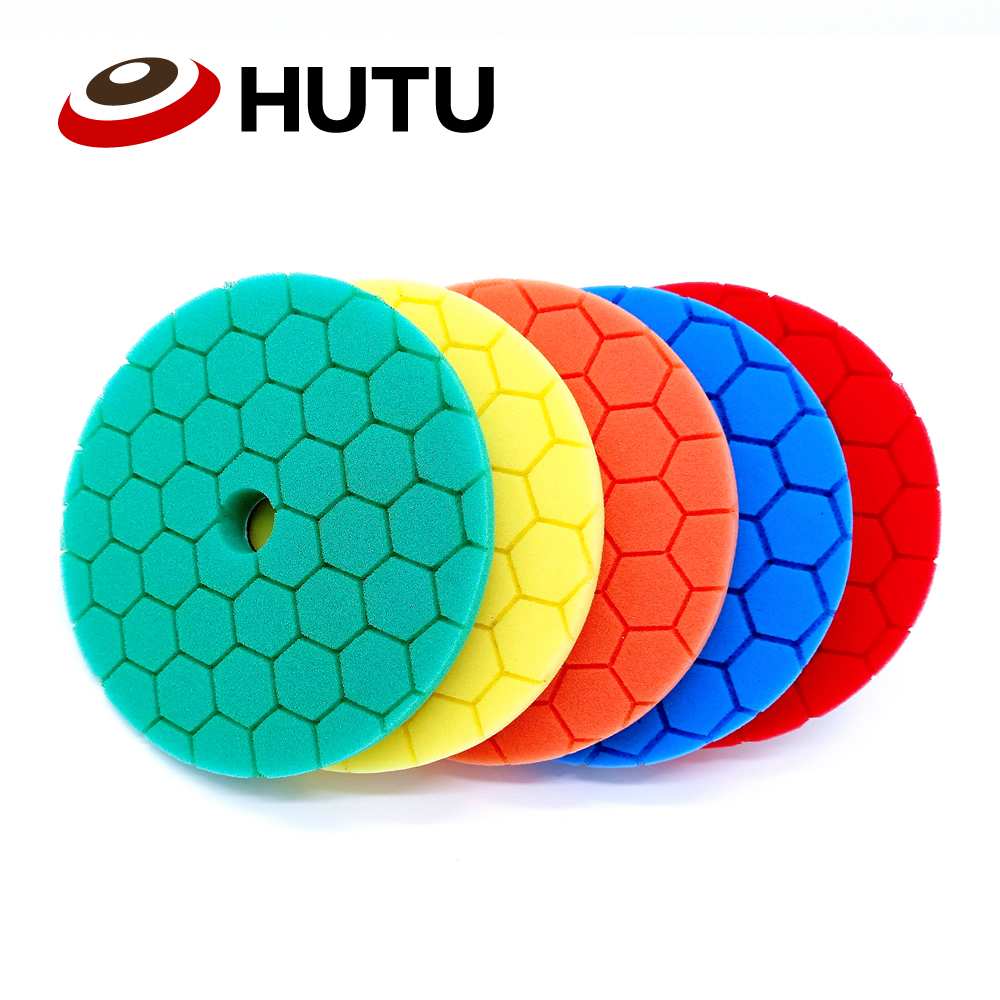 Car Polishing Pad Set For Auto 6 Inch Car Sponge Buffing Waxing Pad For Car Polishier