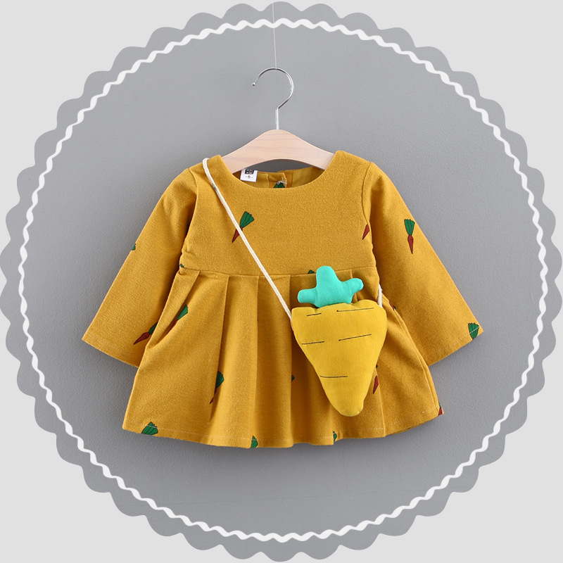 Girl dress Overalls Dresses long sleeve cute carrot  comfortable dress stitching girl dresses Cartoon