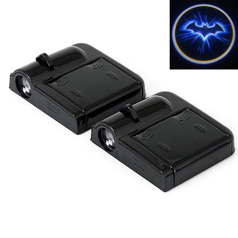2x LED Car Door Welcome Light Laser Car Door Shadow Led Projector Logo Batman Wireless Universal Car Welcome Door Car-styling