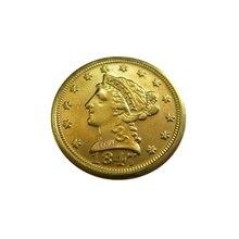 Дата 1847-D 1847-O 1848 1848-D 1848-O 1849 1849-C 1849-D США$2,5 позолоченный(старинная Золотая монета в 2,5 доллара) золотые в виде копия монет