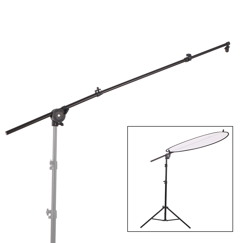 Holder Stand Extendable Photo Studio Photography Reflector Diffuser Boom Arm Support  WithClip Flexible Swivel Grip Head Clamp
