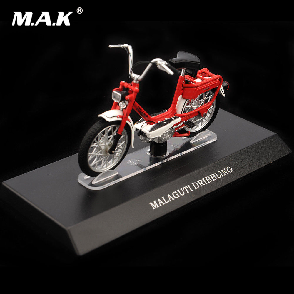 Cheap Kid Toys 1:18 MALAGUTI DRIBBLING Red Diecast Motorcycles Children Model Toys Moto Model Bike For Birthday Gift Collection
