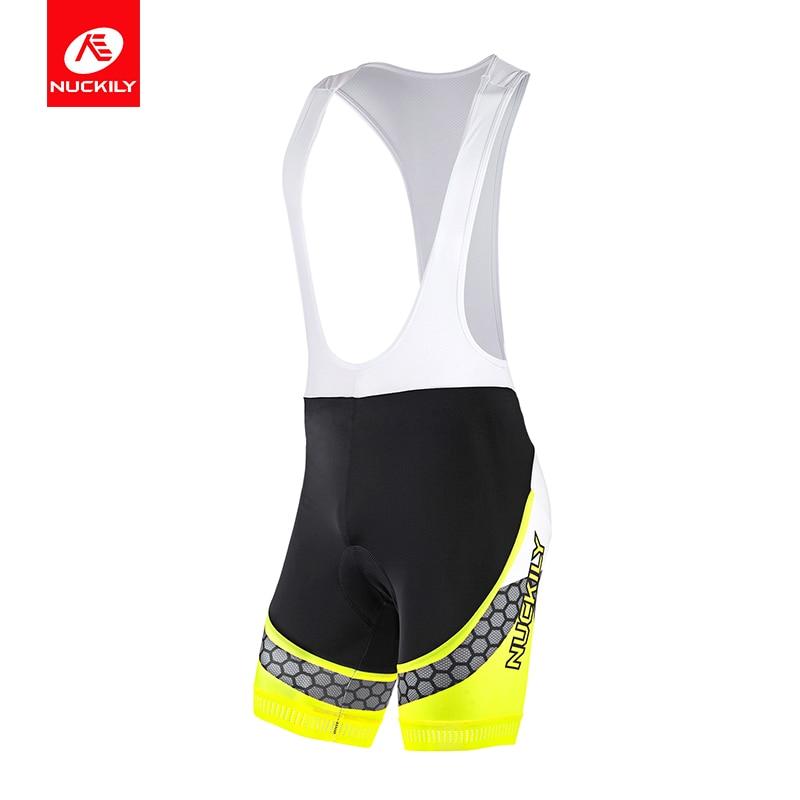 NUCKILY Men's Summer Cycling Bib Shorts 3D Foam Pad Spandex Fabric Sportswear MS011 настольная книга веб дизайнера