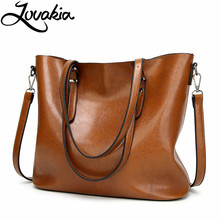 LOVAKIA women shoulder bags 2017 fashion handbags oil wax leather large capacity tote bag casual pu messenger