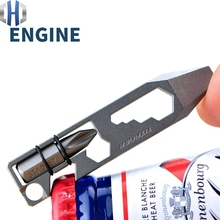 Titanium Alloy Multi-function Portable Mini Tool Bottle Opener Screwdriver Small Wrench EDC Tools