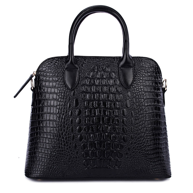 2018 New Women Trendy Alligator Shoulder Bag Top Handle Shell bag Leather Handbag Female Purse Office Work Bag Satchel 2017 120cm diy metal purse chain strap handle bag accessories shoulder crossbody bag handbag replacement fashion long chains new