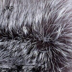 Image 5 - スター毛皮 2020 本物のシルバーフォックスの毛皮の帽子男性本物のアライグマの毛皮レイ風水キャップロシア男性爆撃機の帽子とレザーのトップス 1002