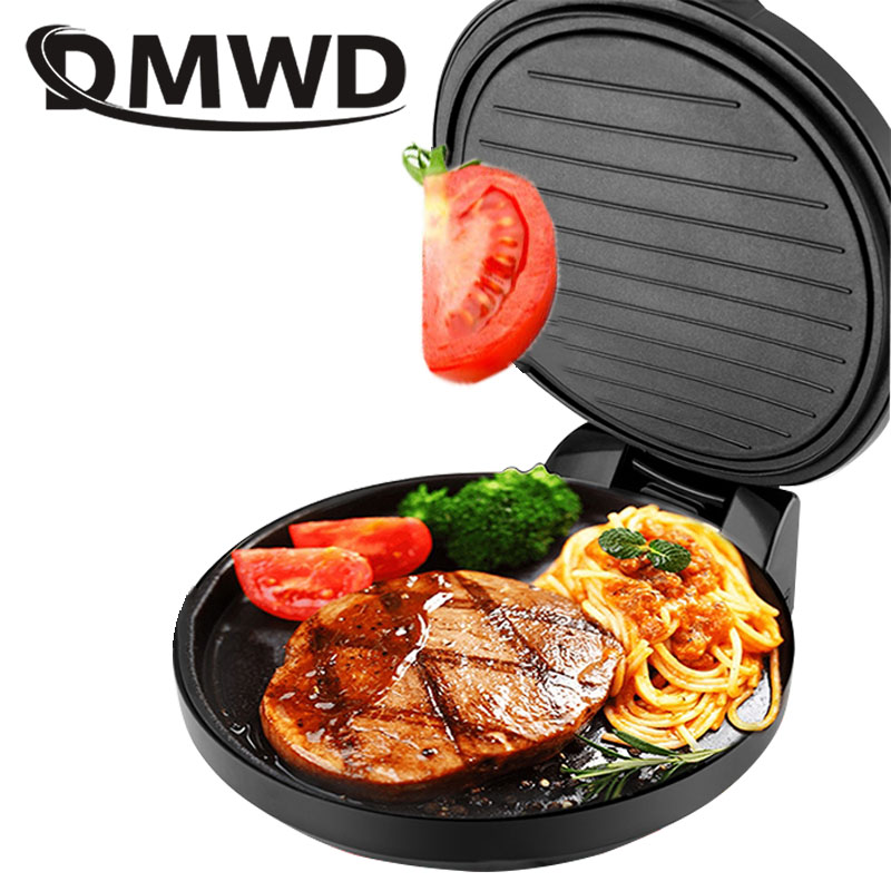 DMWD Electric baking pan Double sided frying pan Crepe machine Electric pan electric frying pancake machine pancake 220V EU US цена