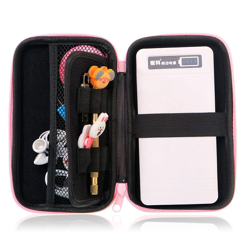 Waterproof Portable external hard drive bag funda disco duro externo hdd case cover Cosmetic travel bag hard case pouch