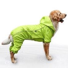 Собака плащ Водонепроницаемый большая собака одежда регулируемый эластичный канат кнопки собака плащ большой пояс резинка Регулировка пояса