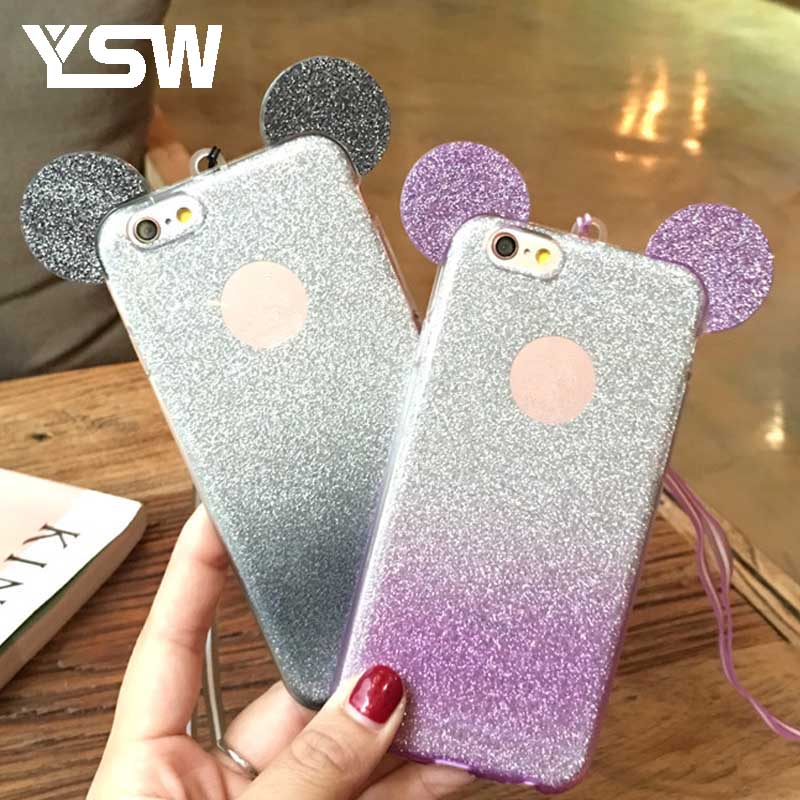 For Huawei Mate 7 Mate 8 Honor 5X 4C 5C GR5 P9 P8 lite litter Minnie Mickey Mouse Ear So ...