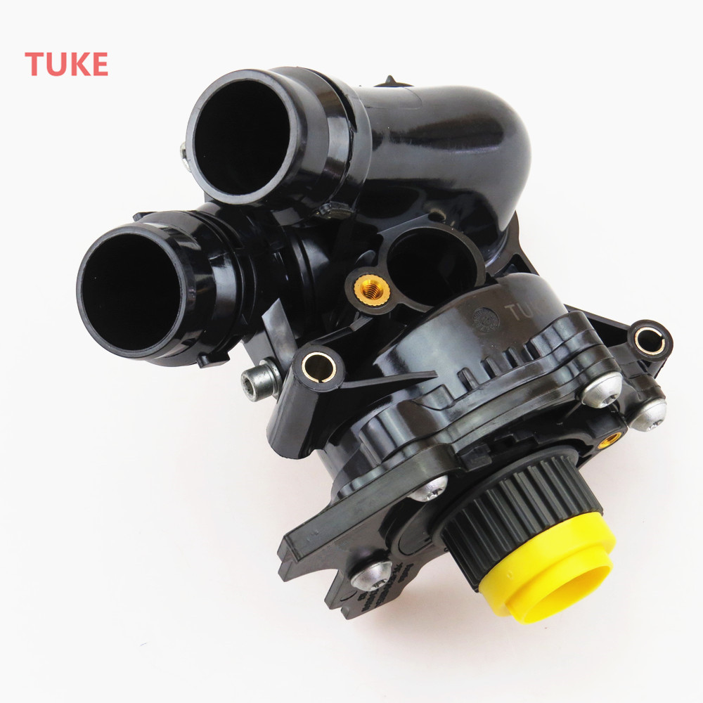 TUKE 1.8T 2.0T Engine Cooling Water Pump Assembly For VW Jetta Golf MK5 MK6 Tiguan Passat B6 B7 A6 Octavia 06H 121 026 06H121026 qty 2 auto for auxiliary cooling water pump fit vw jetta golf gti vw passat cc octavia 1 8 t 2 0 t 12 v engine 1k0 965 561 j