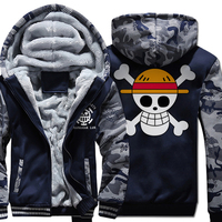 wool liner hooded Camouflage color Hoodies men one piece casual fleece Thicken Zipper Jacket coat 2019 dark blue gray sweatshirt