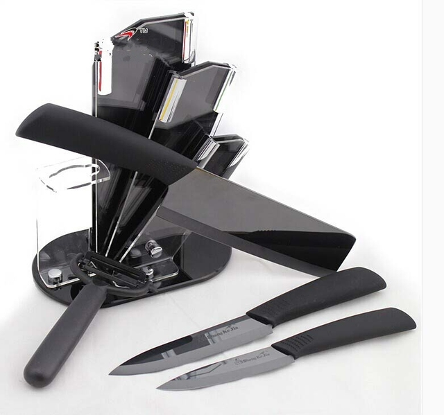 Kingart Ceramic Knife Set Zirconia Kitchen Knifeceramic Black Mirror