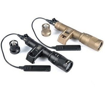 IFM M600V Scout Light Dual Output LED Flashlight White Light & Infrared Side Mount Tape Switch Tactical Light for Hunting