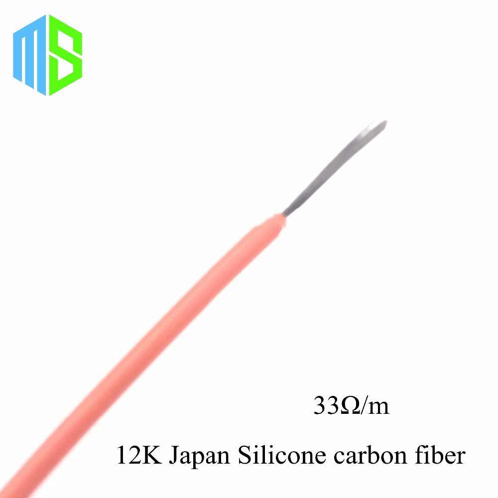 Câble chauffant infrarouge de Fiber de carbone de Silicone de 12 ~ 220 V 9 ~ 510ohm fil électrique de chauffage par le sol pour le système chaud de plancher à la maison de Hotline