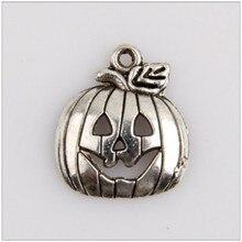 40pcs metal charm Christmas supplies pumpkin lamp Tibetan silver jewelry pendant production found
