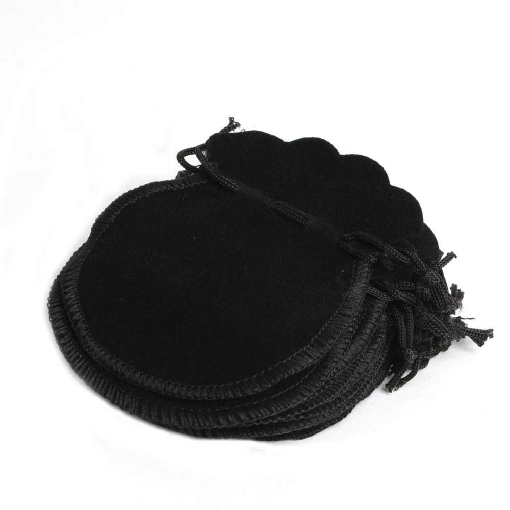 100Pcs Cheap Lovely Thin Velvet Pouch Drawstring Jewelry Bag 70*80mm,Party Holiday New Year Christmas Wedding Promotion Gift Bag