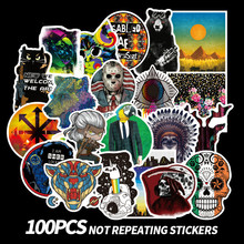100PCS Many Styles Waterproof Car Stickers Graffiti JDM Car Modification Sticker for Motorcycle Bicycle Helmet Suitcase Laptop