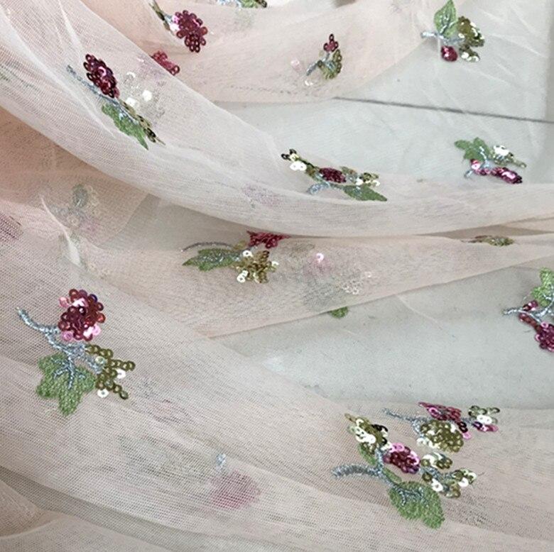 5 yards/lot rose Sequin Tulle broderie dentelle tissu, Couture artisanat accessoires pour mariage, Couture tissu, robe de demoiselle d'honneur-in Tissu from Maison & Animalerie    3