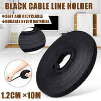 10M Black Nylon Cable Ties Belting Adhesive Wire Cable Organizer Cord Winder Manager Strap USB Cable Holder Protector