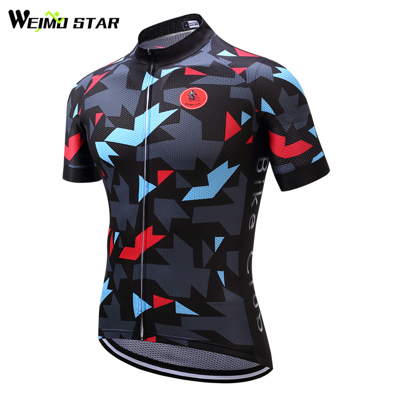 Weimostar 2019 Men Short Sleeve Cycling Jersey Team Bike Jersey Shirt - Cycling