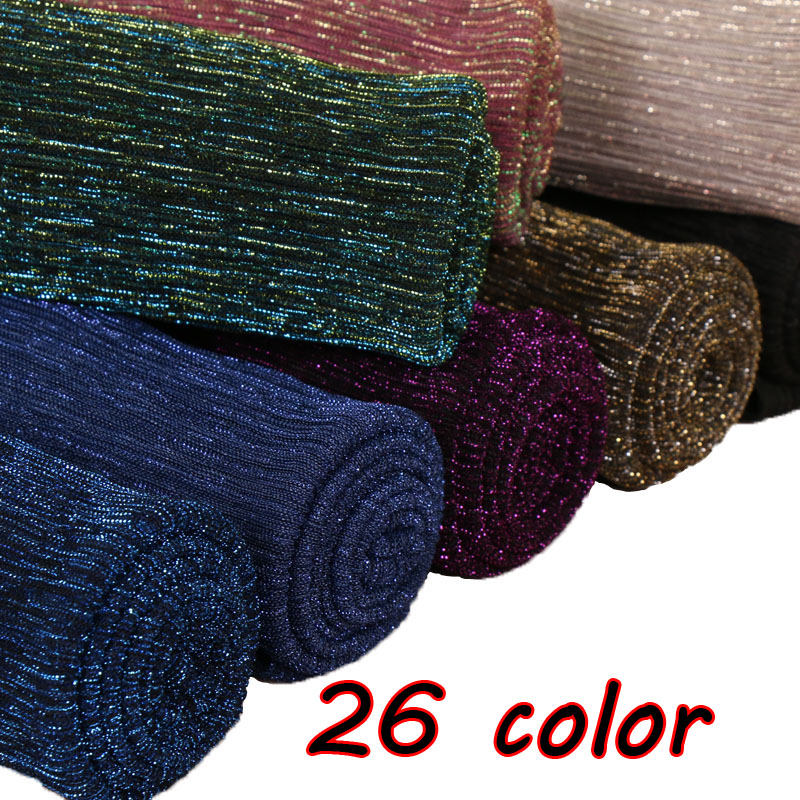 Laven Lurex glitter   scarves   plain pleat shimmer elastic long fashion   scarf   crinkle hijab   wraps   muslim shawls 26 color 10pcs/lot