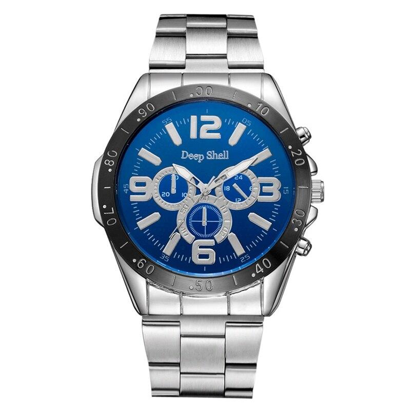 Deepshell Men Watch Top Brand Luxury Leather Engraved Dial Military Watches Clock Male Erkek Kol Saati Relogios s13