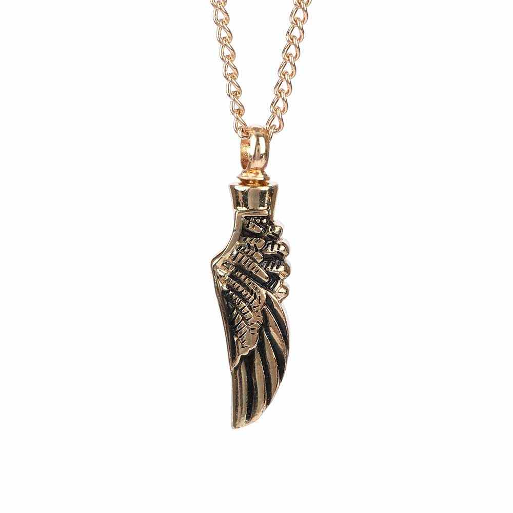 1 Pcs Simple Jewelry Women Men Sweater Necklace Angel Wings Charm Stainless Steel Necklace